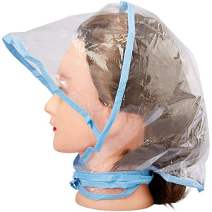 Juvale 12-Pack Clear Waterproof Rain Bonnet Hat with Visor, Transparent with Blue Trim