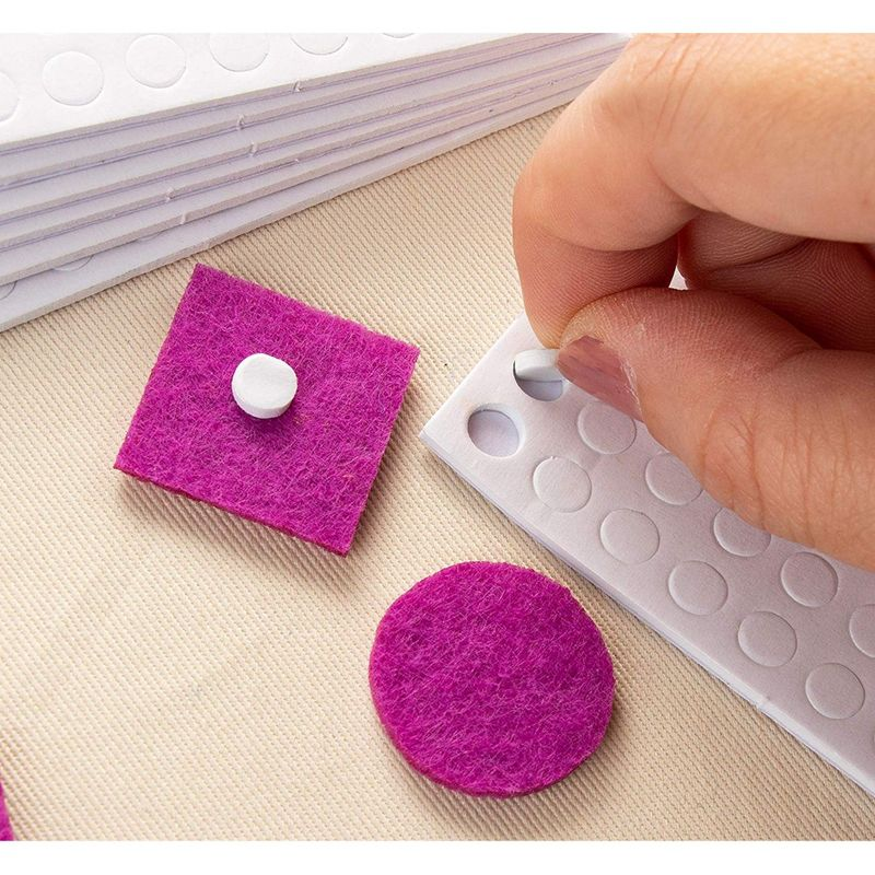3D Pop Dots - Total 1200-Piece Dual-Adhesive 3D Foam Tapes, 0.24-Inch Foam Dots Adhesive Mount for Craft DIY Art, Scrapbooking, Cardmaking, Office Supplies, 12-Pack, Round