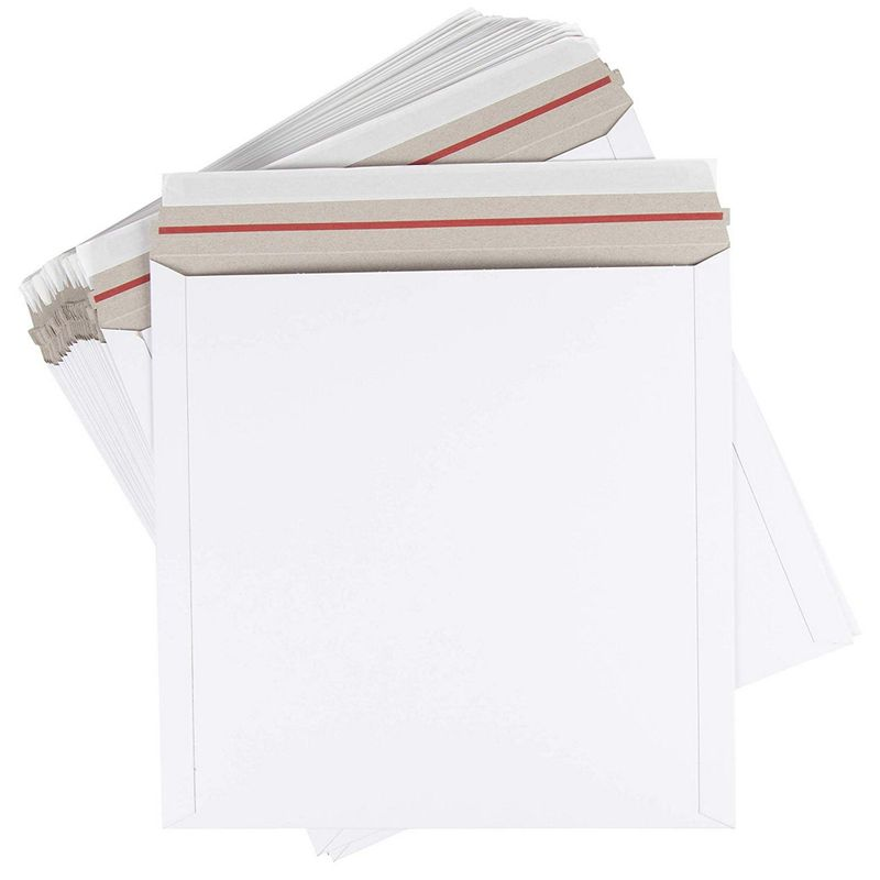 Rigid Mailing Envelopes, Stay Flat Mailers (12 In, 25 Pack)
