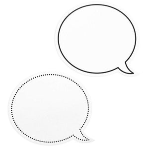 Juvale 48-Pack Laminated Erasable Speech Bubble Cutouts for Bulletin Board, 9 x 8 Inches