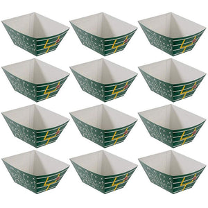 Football Snack Bowl - 12-Pack Large Disposable Party Bowls, Easy DIY Assembly, Birthday, Game Day, Tailgate Party Supplies, 11.75 x 9.75 x 5 Inches