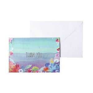 Blank Thank You Cards and Envelopes, Cute Watercolor Greeting Cards (4 x 6 In, 48 Pack)