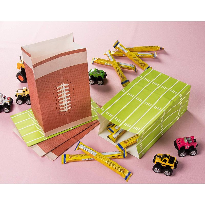 Juvale Football Paper Treat Bags Party Supplies for Goodies, Favors, Gifts, 5 x 8 Inches, 36 Pack