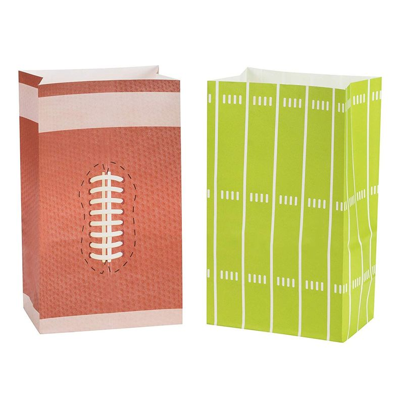 Football Party Favor Bags for Goodies (5 x 8 Inches, 36 Pack)