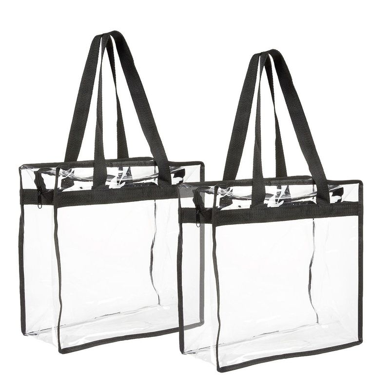 Stadium Approved Clear Tote Bags (2 Pack)