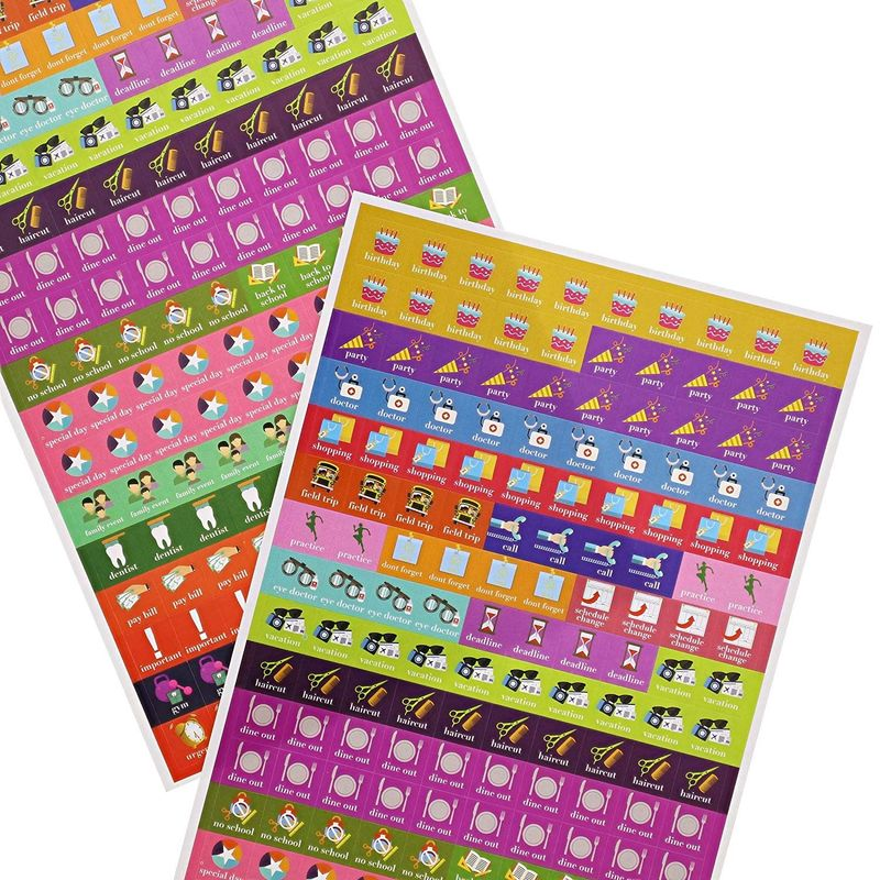 Juvale Calendar Reminder Appointment Stickers, 5 Sheets (1050 Count)