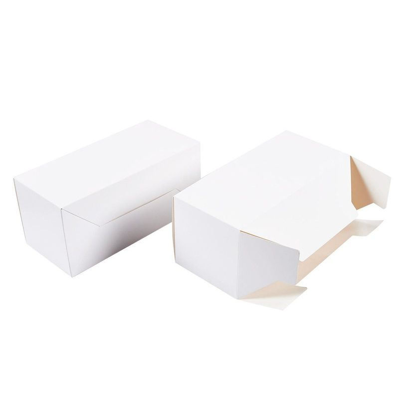White Gift Boxes - 20-Pack Rectangle Gift Wrapping Paper Boxes with Lids, Kraft Boxes for Party Supplies, Cupcake Containers, Wedding Favors, 9 x 4.5 x 4.5 Inches