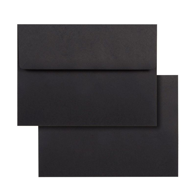 "50-Pack Black A7 Square Flap Envelopes for 5""x7"" Greeting Cards Photos Invites"