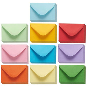 Juvale 100-Count Assorted Color Gift Card Envelopes, Small Envelope Gummed, Mini Tiny Pockets for Note Cards, Business & Wedding, 4 x 2.7 Inches