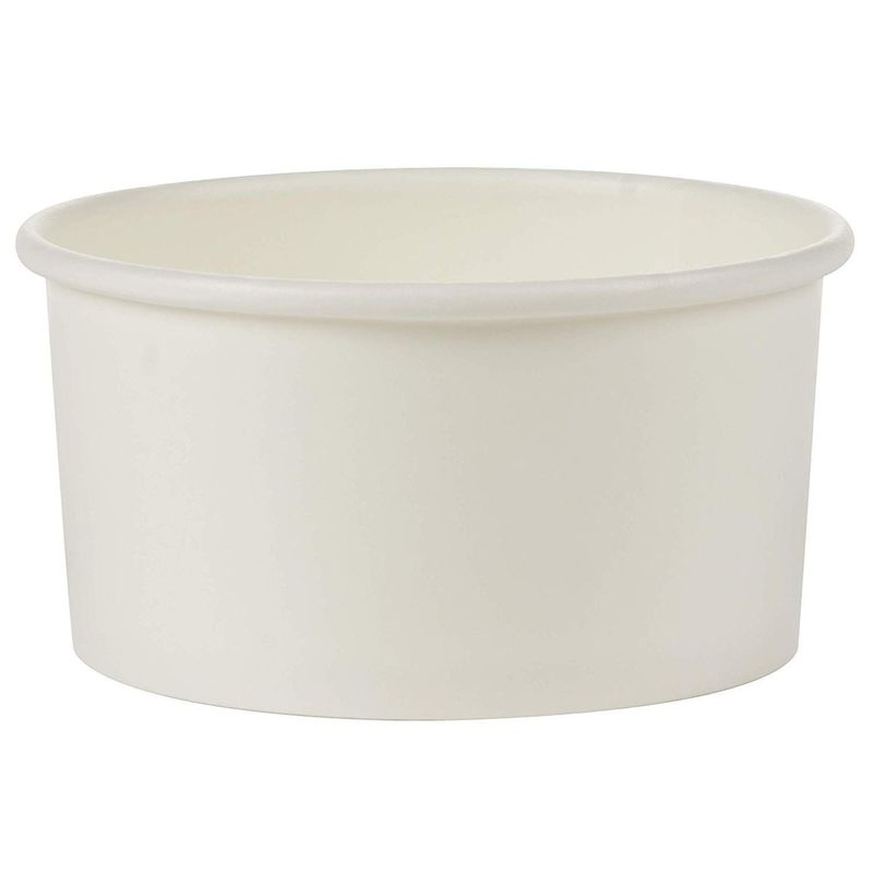 Juvale Ice Cream Cups 12 Ounce Bulk 100 Pack, Paper, White