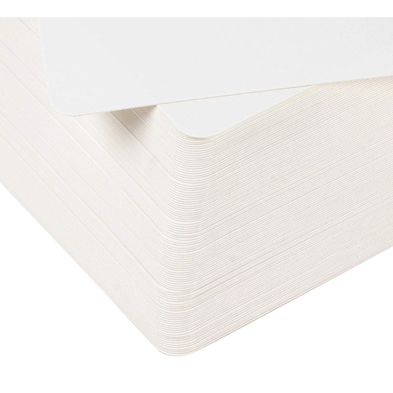 Blank Index Cards - 100-Count Rounded Blank Flash Cards, for Business Cards Message Cards, DIY Gift Cards, White, 3 x 5 Inches