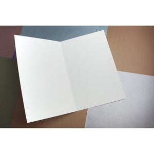 "100 Blank Note White Half Fold Greeting Card Stock DIY Craft, 8.5""x5.5"" Folded"