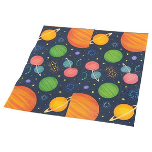 Outer Space Party Bundle Includes Plates, Napkins, Cups, and Cutlery (Serves 24, 144 Total Pieces)
