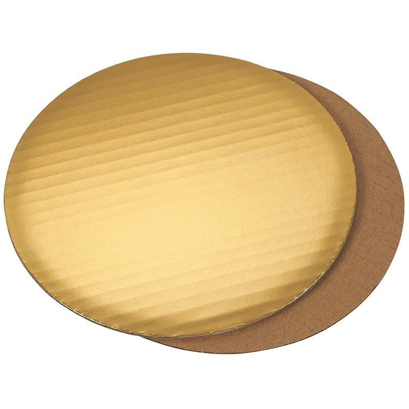 Cake Boards - 12-Piece Cardboard Round Cake Circle Base, 8 Inches Diameter, Gold