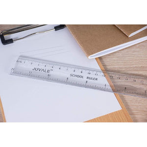 Plastic Rulers - 36-Pack 12-Inch Rulers with Inches and Metric Scales, 2 Scales Student Rulers in Bulk, Measuring Rulers for School, Home and Office