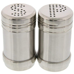 Juvale Salt and Pepper Shakers - Modern Kitchen Stainless Steel Salt and Pepper Shakers - 3.5 Inch