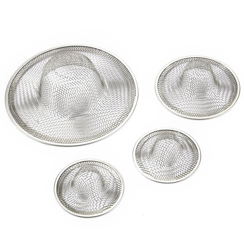 4x Metal Wire Basin Filter Drain Catcher for Kitchen Mesh Sink Strainer Drainer