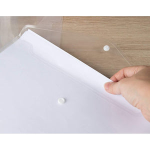 Pack of 25 Clear Document Folders - Plastic Envelope Folders for Holding A4 Documents, 12.5 x 9 Inches