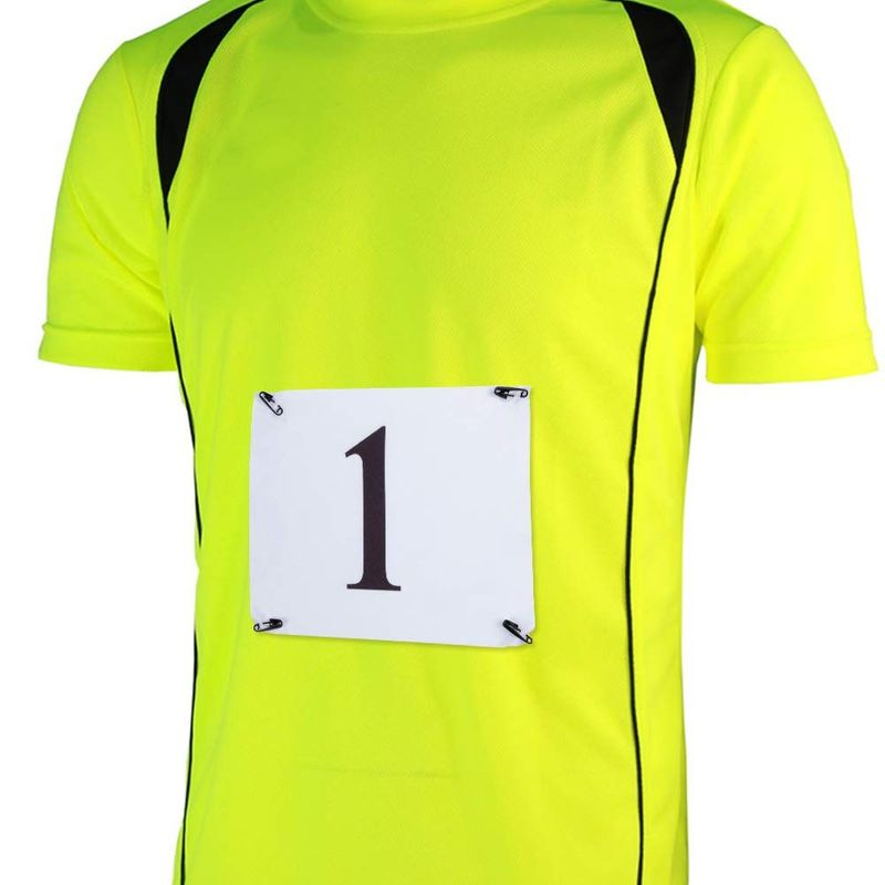 Juvale Race Bibs - 1-100 Competitor Running Bib Numbers for Marathon Races