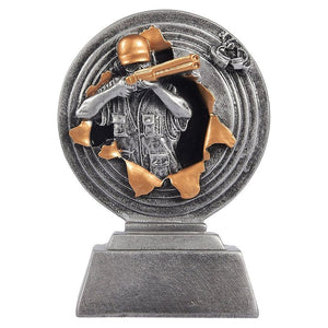 Juvale Shooting Trophy - Trap Shooting Award, Small Resin Trophy for Tournaments, Competitions, Parties, 3.75 x 5 x 1.25 Inches