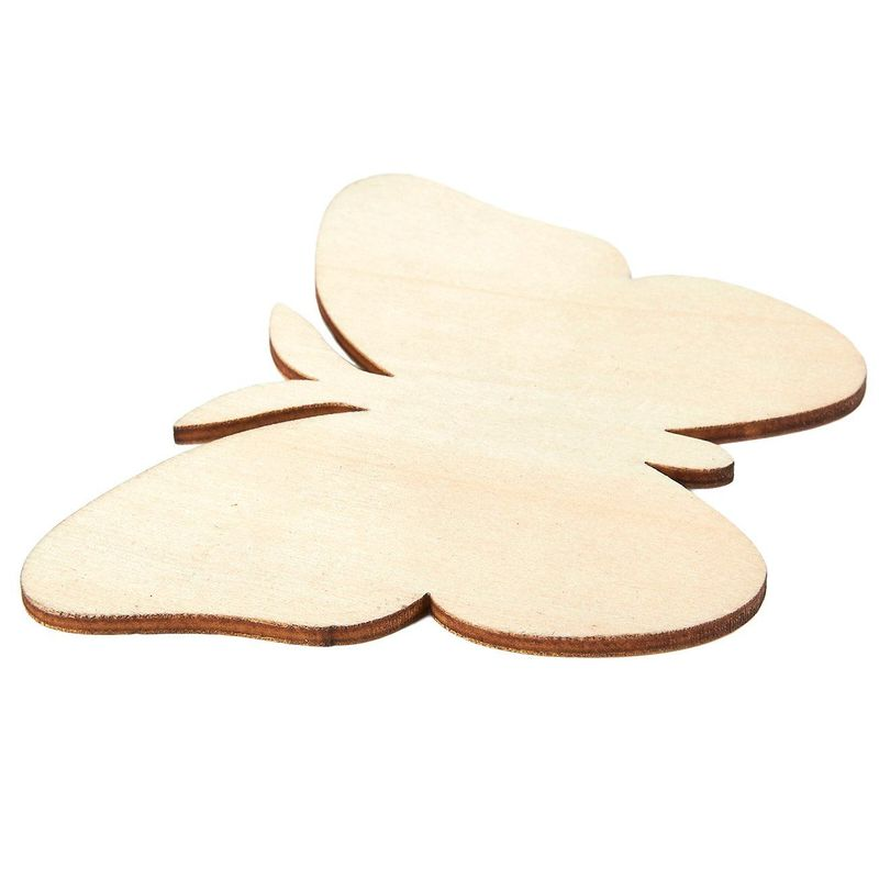 Unfinished Wood Cutout - 24-Pack Butterfly Shaped Wood Pieces for Wooden Craft DIY Projects, Gift Tags, Home Decoration, 3.7 x 2.7 x 0.1 inches