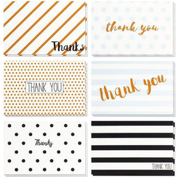 48 Pcs Thank You Cards Bulk Set, Retro Designs Thank You Notes with Envelopes