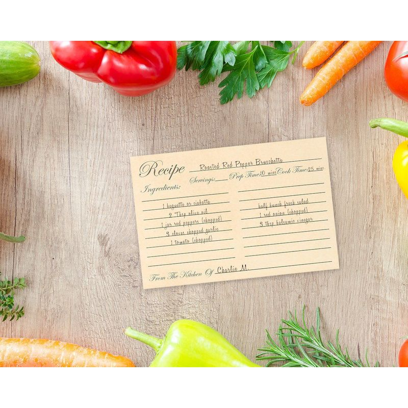 Juvale Recipe Cards for Kitchen,Double Sided (60 Pack 4x6 Inches)