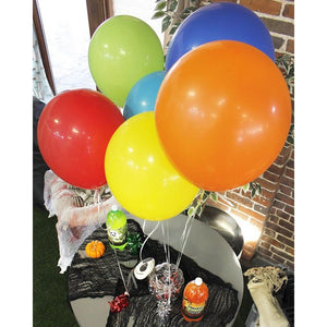 Balloon Weights with Foil for Birthday Party (2.5 x 3.5 In, 6 Colors, 12 Pack)