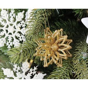 Juvale 6-Pack of Christmas Tree Decorations - Snowflake Decorations, Christmas Ornaments, Festive Embellishments - 3 x 4.2 x 3 Inches