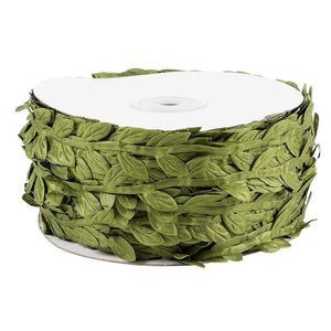 Juvale Jute Burlap Vine Twine with Artificial Leaves Garland for DIY Crafts and Decor, 327 feet Long