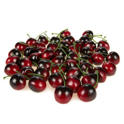 50 Piece Fake Fruit Cherries, Artificial Lifelike Fruit for Still Life Paintings