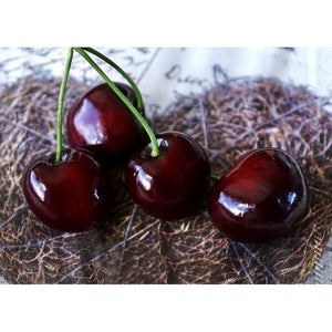 Juvale Fake Fruit Cherries - 50 Piece Artificial Fruit Decorations, Fake Fruit Decoration Still Life Paintings, Storefront, Kitchen Decor, Red