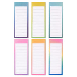 12 Pack Magnetic Notepads for Fridge, Lined To Do List, Watercolor Design, 3.5x9