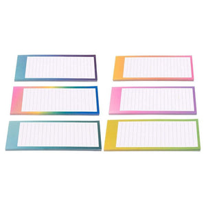 12-Pack to-do-List Notepad, 6 watercolor Designs, 60 Sheets Per Pad 3.5 x 9 Inch