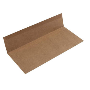 Business Envelopes - 100-Pack #10 Kraft Envelopes, Square Flap Envelopes for Office, Checks, Invoices, Letters, Mailings, Windowless Design, Gummed Seal, Brown, 4-1/8 x 9-1/2 Inch