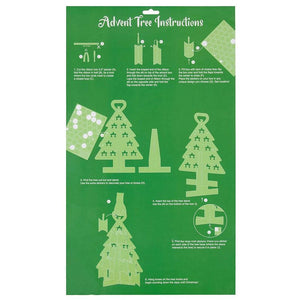 Juvale Advent Tree Calendar Set - DIY Kraft Standing Cardboard Christmas Tree, Includes 24 Mini Gift Boxes, Numbered Stickers, Red Ribbon, Large Holiday Festive Table Decoration, 17.5 x 12.2 Inches