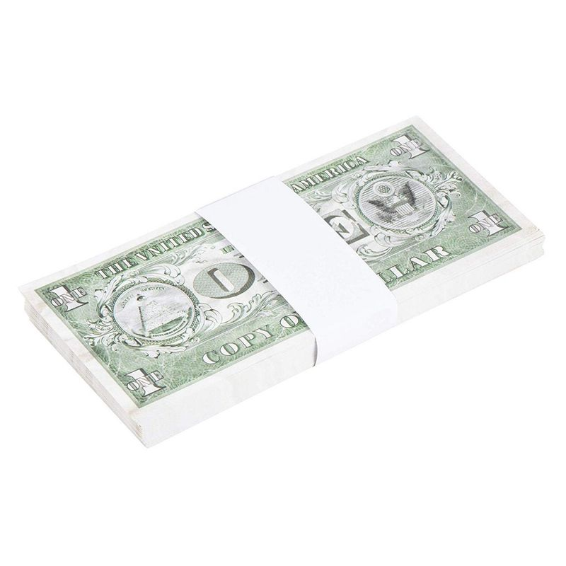 Juvale 300-Pack Blank White Paper Currency Money Band Straps, No Denomination Bill Wrappers, 7.8 x 1.2 Inches