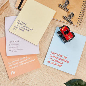 8 Pack Funny Sarcastic Notepads for Work & Office, Novelty Memo Note Pads Gift for Coworkers, 4 Designs, 4.25x5.5