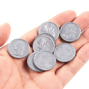 Juvale Pretend Money Play Quarter Coins (200 Count) 0.98 Inches in Diameter