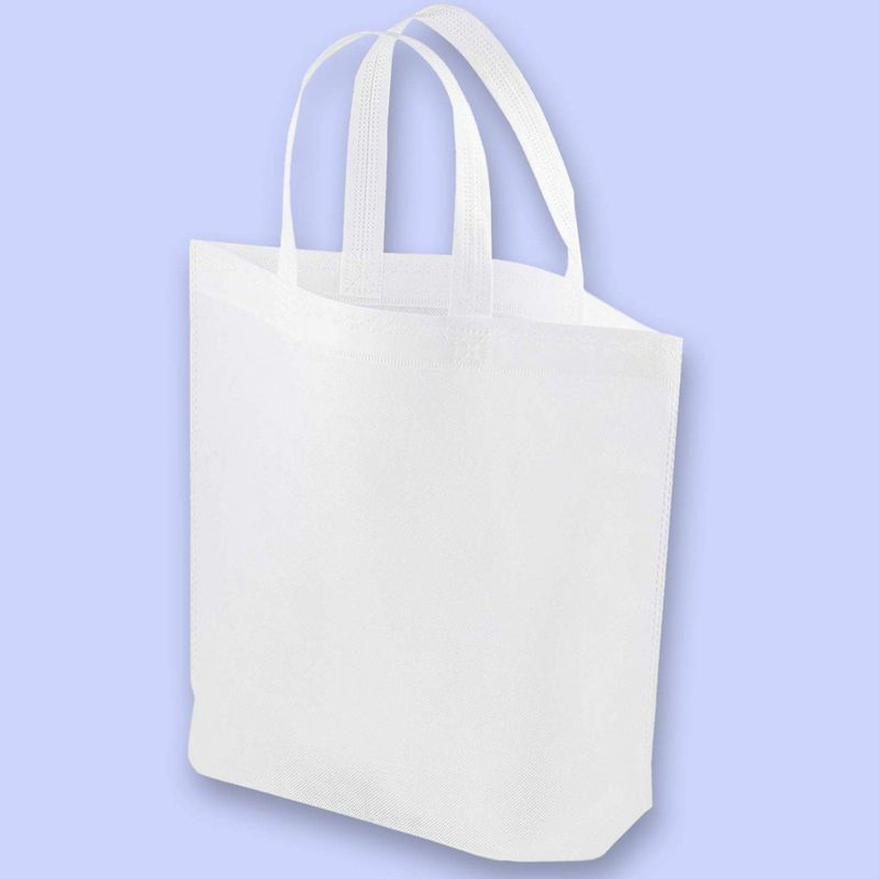 20 Pack Bulk Blank White Tote Bags for DIY Crafts, Gifts, Grocery, Party Favors