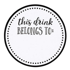 "500x Drink Markers Stickers Labels ""This Drink Belongs to"" Wedding Birthday, 2"""