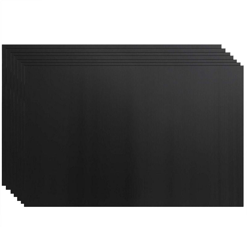Juvale 8-Pack Blank Corrugated Plastic Yard Lawn Signs, Black, 24 x 36 Inches