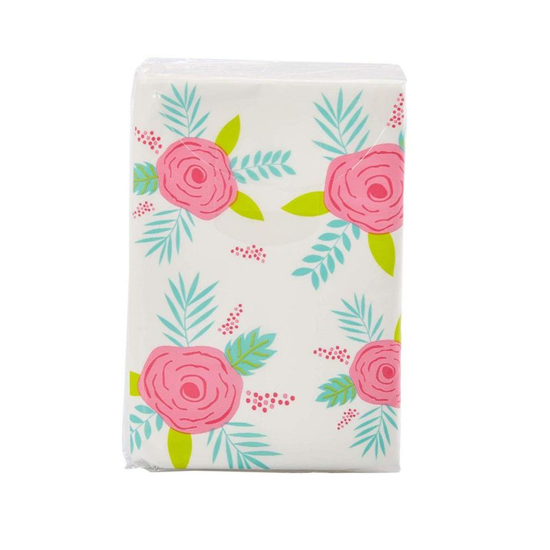 Juvale 60-Pack Floral Print Facial Tissues for Travel and Wedding Party Favors, 3-Ply, 10 Sheets Each Pack, 3 x 2 Inches