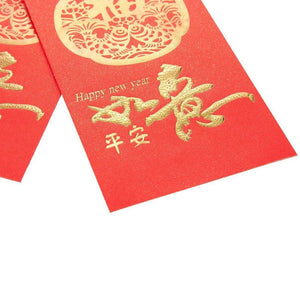 Juvale 100-Pack Red Lucky Chinese Money Envelopes for Lunar New Year, Good Luck, and Hong Bao, 3.5 x 6.69 Inches