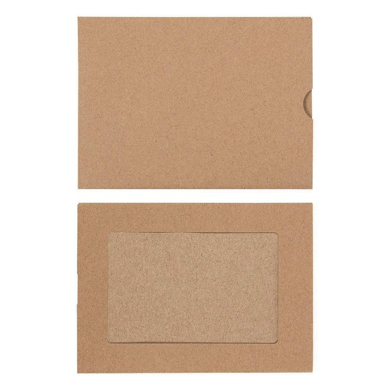 Photo Insert Note Cards - 50-Pack Paper Picture Frames Cards and Envelopes - Elegant Kraft Paper Photo Mats, Perfect for Inserting and Sending Memorable Documents, Holds 4 x 6 Inches Inserts