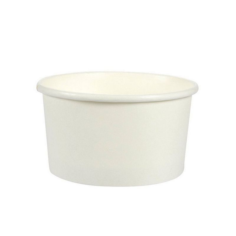 Ice Cream Sundae Cups - 100-Piece Disposable Paper Dessert Ice Cream Yogurt Bowls Party Supplies, 5-Ounce, White