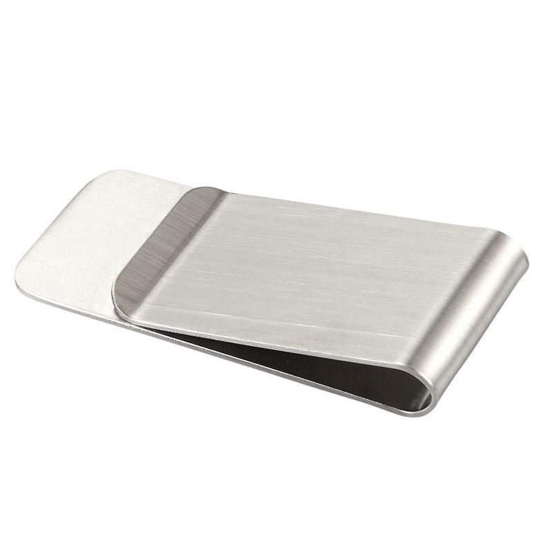 3 Pack Stainless Steel Money Clips, Slim Credit Card Holder, Classic Design for Men and Women, Silver, 2.1 x 1 x 0.3 Inches