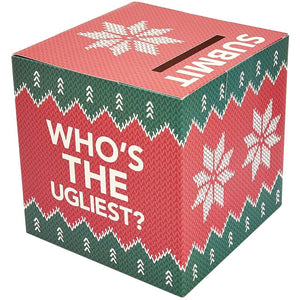 Juvale Ugly Sweater Contest Ballot Box and Voting Cards Set, 10 Inches