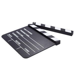 Clapper Board - 2-Pack Movie Clapboards, Hollywood Director Film Slate for Movie Scene Production Decoration Prop, Black, 8 x 0.5 x 7.25 Inches