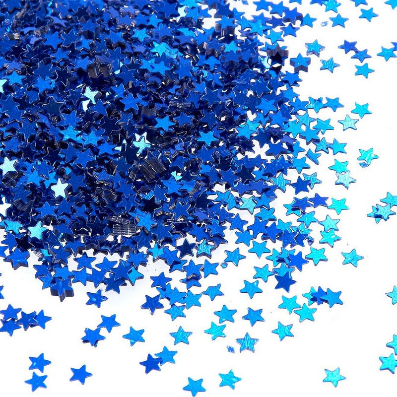 7oz Star Confetti Glitter Star Table Confetti Metallic Foil Stars Sequin for DIY Crafts, Party, Wedding and Home Decoration - Blue